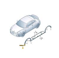 Véritable Volkswagen Beetle avant Pare-Choc Gauche Inférieur Couvrant Noir