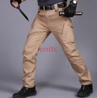Mens Tactical Loose Overalls Pants Military Slacks Cargo Combat Trousers S-3XL