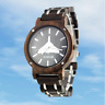 Vulcan XH558 Timber Case and Strap Watch ~ Friend or Foe ~ Walnut, Miyota Quartz