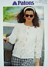 PATONS 4920 - LADIES DK LACY CARDIGAN KNITTING PATTERN 32/42in
