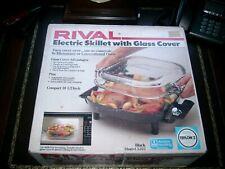 "Rival Model 5102 Electric Skillet 10 1/2"" / Glass Lid NIB USA"
