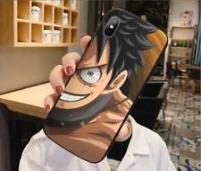 One Piece Anime Für iPhone 7/8 11 Plus X/XS XR Max Case Hülle Schutzhülle Glas
