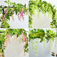 3.6ft Silk Wisteria Artificial Flowers Vine Garland Hanging Flower Party Wedding