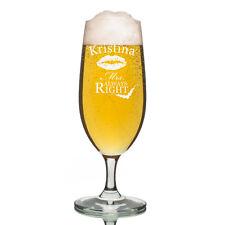 Leonardo vidrio Pilsner Copa de cerveza incl. Grabado Sra.. SIEMPRE Right
