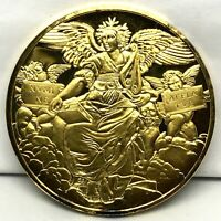 1977 St. Poetry Raphael Gold Electroplate Sterling Silver Proof Medal