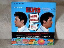 ELVIS PRESLEY~DOUBLE TROUBLE~ RARE~STEREO~LSP-3787~RCA~  ~ LP