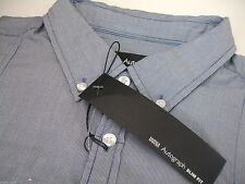 Marks and Spencer Slim Cotton Striped Men's Casual Shirts & Tops