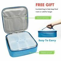 5 Compartment Leakproof Lunch/Bento Box with CARRY BAG KEEPS FOOD WARM OR COLD