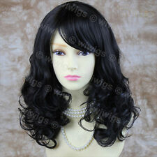 Wiwigs Stunning Black Brown Curly Medium Skin Top Ladies Wig