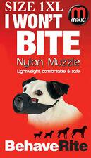 DOG MUZZLE 1XL Westie Jack Russell Size Etc MIKKI MUZZLE I Won't Bite NYLON Soft
