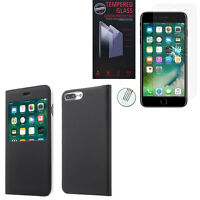 "Etui Housse View Case Flip Folio Apple iPhone 7 Plus 5.5"" + Film Verre Trempe"
