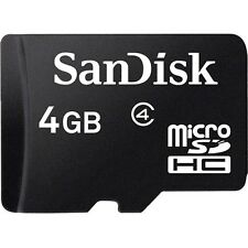 SanDisk 4 GB Micro SDHC Class 4 Memory Card with USB Reader & SD Adapter