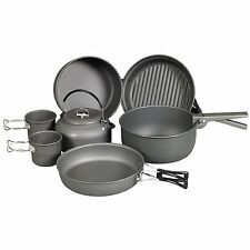 NDuR Cookware Mess Kit with Kettle 9 Piece