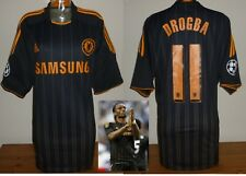 Chelsea 2010/11 Away Football shirt Drogba Champions League XL utilisé Adidas