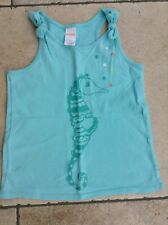 Gymboree Turquoise Sleeveless  Sea Horse Tee  Sun Top Age 7 Vgc