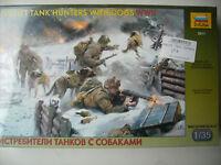 Zvezda 3611 Soviet tank hunters with dogs WW II Figurensatz - 1:35