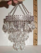 MINIATURE 1/6 SCALE FASHION DOLL  DOLLHOUSE HANGING BEAD CHANDELIER ACCESSORY #2
