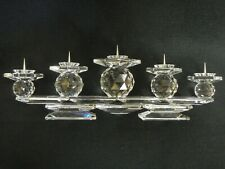 Swarovski Vintage 5-Light Pin Style Crystal Candleholder Style 7600 European