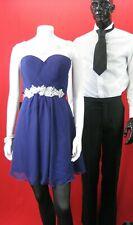 Grace Karin Purple lace over shoulder short party prom Gown Dress UK 12 Eur 38