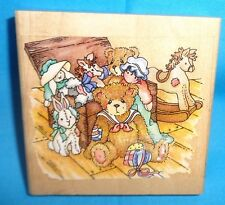 Stampendous! Wood Mounted Rubber Stamp Cherished Teddy Christopher's Friends