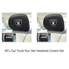 New 2pc NFL Oakland Raiders Automotive Gear Car Truck Headrest Covers Set