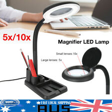 5X Magnifying Glass Magnifier 36 LED Lamp Light Desk Table Task Craft Work Bench