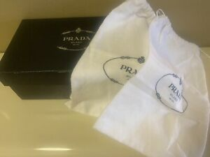 PRADA EMPTY SHOE BOX WITH DUSTBAGS