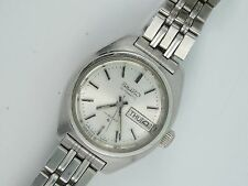 VINTAGE LADIES AUTOMATIC 2706 DAY-DATE SEIKO HI-BEAT AUTOMATIC WATCH * WORKING