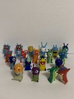 "LOT OF 19 LOOSE SLUGTERRA  about 2"" TALL 2012 MINI FIGURES - JAKKS PACIFIC"
