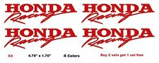 Honda Racing Decal Stickers Set of 4 Dirt JDM Spoon Civic Accord Prelude Moto
