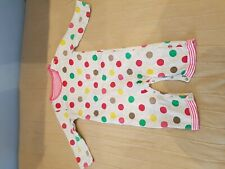 Mothercare Grey Spotty Lined Playsuit - 6-9 months - Combined P&P Offered