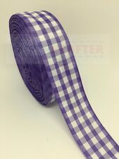 Gingham Scottish Tartan Polyester Double Sided Ribbon Purple 25mm Bows