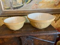 Vintage Antique English Pottery Mixing Bowls Two T G Green & Co The Gripstand