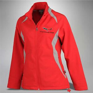 2005-2013 Corvette Women's Double Apex Jacket with Embroidered C6 Logo 698456