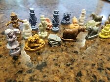 Lot of 25 Vintage Wade England Porcelain Red Rose Tea Figurines Rare Collectible
