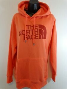 The North Face Women's Pullover Hoodie Big Logo Sz XL Orange Pink New With Tags