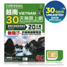 VIETNAM Asia 30Day 4G UNLIMITED DATA 3 THREE Vietnamobi Prepaid SIM CARD Travel