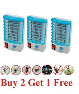 Indoor LED Electric Mosquito Fly Bug Insect Trap Zapper Killer Night Lamp light