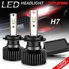 2 PCS H7 CSP LED Headlight Bulbs Kit High Low Beam White 4000W 600000LM 6000K