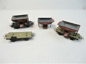 Marklin Ho 367  freight cars for restoration or parts  fairly nice!