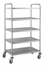 5 Tier Stainless Steel Serving / Clearing / Catering Trolley