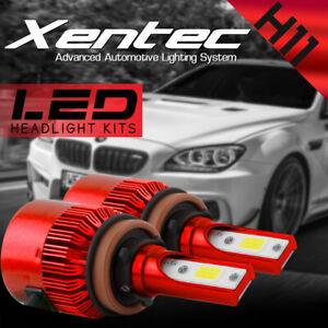 2x Xentec H11 H9 H8 LED Headlight Bulb Kit Low Beam Fog Light 60W 6000K 7600LM