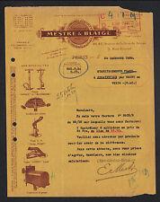 """PARIS (XVII°) USINE D'OUTILLAGE , POMPES & GONFLEURS """"MESTRE & BLATGE"""" en 1929"""