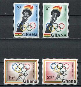 29747) GHANA 1960 MNH** Nuovi** Olympic Games Rome 4v.