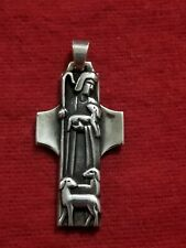 "James Avery ""Christ The Good Sheperd"" Cross Pendant Rare Retired"