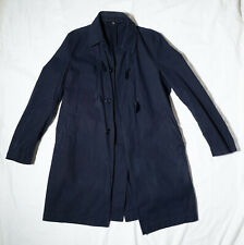 Helmut Lang Archive SS05 Dark Blue Cotton Canvas Classic Duffle Mac Coat