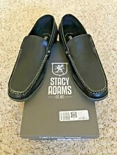 Stacy Adams Coy Moc Toe Classic Slip On Loafer Shoes Sz 9 M Black