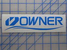 "Owner Hooks Logo Decal Sticker 7.5"" 11"" Cutting Point Saltwater Jig Bass Worm"
