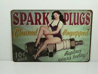 PA33F PLAQUES TOLEE vintage 20 X 30 cm : Pin'up Spark Plugs