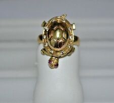 Tri-Color Gold Turtle Ring     .585 /14K Gold Jewelry  - A1191